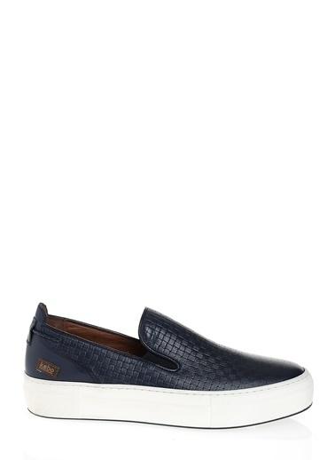 Kebo %100 Deri Ayakkabı Lacivert